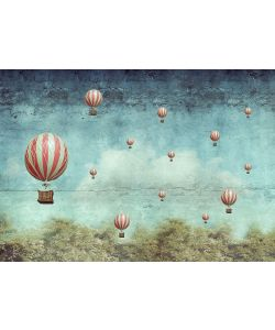 Air Balloons - Mint by Michelle decoupage paper - A1