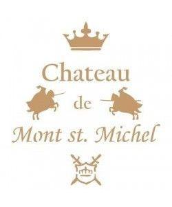 Sjabloon Vintage 16 - Chateau de Mont St. Michel 20cmx20cm