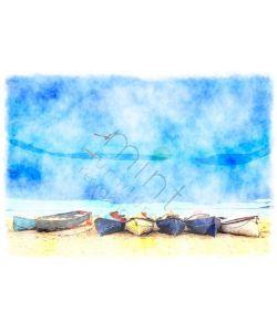 Coastal Blue - Mint by Michelle Decoupage papier-A1