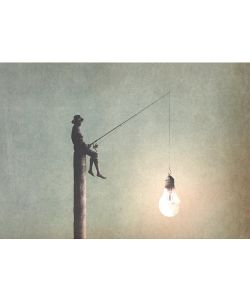Fishing for ideas - Mint by Michelle Decoupage papier-A3