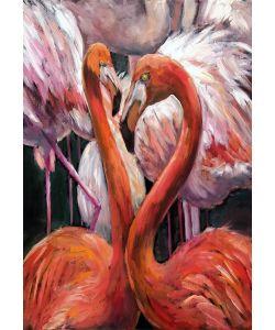 Flamingo-Mint by Michelle decoupage papier -A3