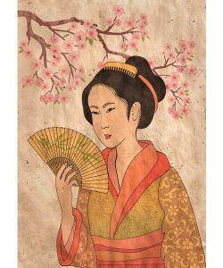 Geisha - Mint by Michelle decoupage papier- A1