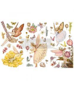 Re-Design with Prima Fairy Flowers 6x12 Inch Decor Transfers