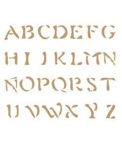 Sjabloon Letters & cijfers 5