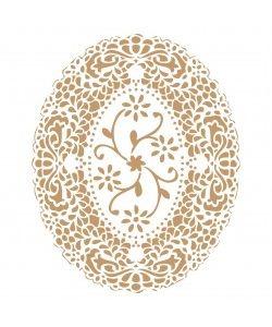 Sjabloon Bloemen 16 - Bloem ovaal