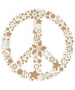 Sjabloon Vintage 20 -Peace sign -