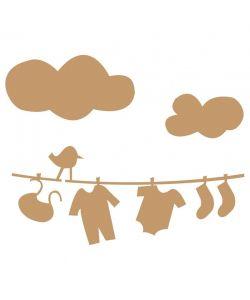 Sjabloon hangende baby kleren