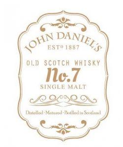 Sjabloon Vintage 06 - John Daniels Whiskey 30 cm x 45 cm