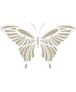 Sjabloon Dieren 04 - vlinder 30cmx30cm